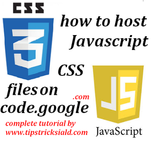 How to Host JavaScript & CSS file on code.google.com