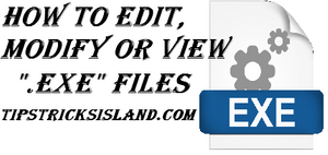 how to edit modify exe application file in windows