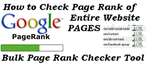 how to Check Page Rank of Entire Website Pages