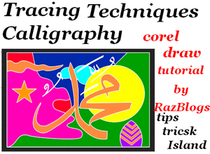 Tracing Techniques Calligraphy (Corel Draw Tutorial)