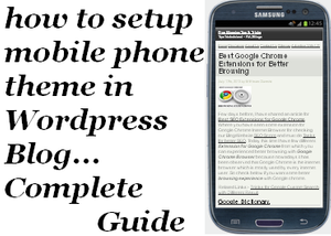 Setup Wodpress Blog Mobile Theme