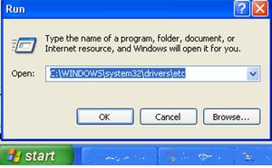 block any website from window