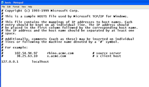 host file site block