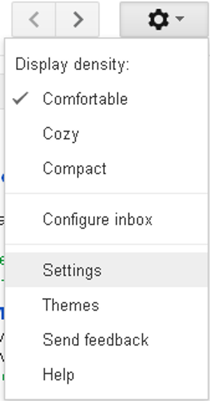 gmail settings tab