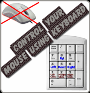 Control Your Mouse Using Keyboard in Windows XP & 7