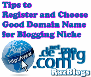 Tips to Register and Choose Good Domain Name for Blogging Niche