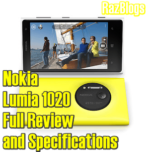 New Nokia Lumia 1020 Full Review and Specifications