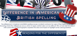 Difference in American and British Spellings - Infographic
