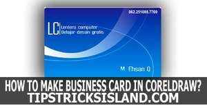 How to Make A Business Card Tutorial