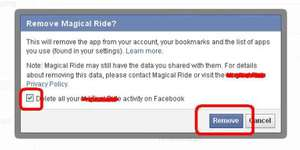 facebook spam application
