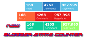 Beautiful Blogger Stats Counter with Hover Effect
