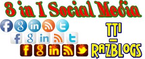 3 in 1 Attractive Social Media Profile Subscription Widget