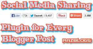 Social Media Sharing Plugin for Every Blogger Post