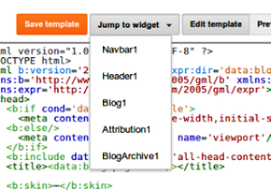 New Blogger Template HTML Editor Interface