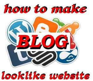 How to make your blog look like a website